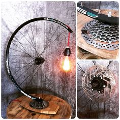 A bumpy ride. A tablelamp somewhat different with a racingwheel and shimanogears and red fabriccord. This One come out nice.  #återbruk #shimano #cykel #interior #interiordesign #cycling #lamp #lighting #mancave #upcycle #recycle #repurpose #edison #belysning #homedecor