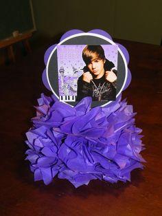 Justin Bieber Centerpieces by 3rdgenerationcrafts on Etsy, $7.00