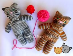 Knitted cats by Hand to Hand Tigre - Tejidos  https://www.facebook.com/photo.php?fbid=509140822507015=a.356296354458130.88860.356270324460733=1