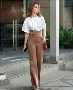 Ladies summer stylish outfits – Just Trendy Girls Stylish Outfits, Fashion Outfits, Formal Outfits, Diy Fashion, Nancy Ajram, Love Couture, Vestidos Sexy, Paris Chic, Vogue