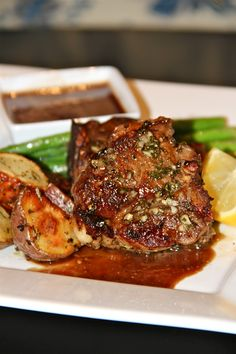 Lemon Rosemary Lamb Chops with Honey-Balsamic Dipping Sauce