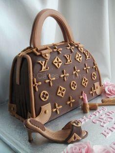 Louis Vuitton Purse Cake ~ cakes by Tina , www.CheapMichaelKorsHandbags#com,   cheap louis vuitton sale,