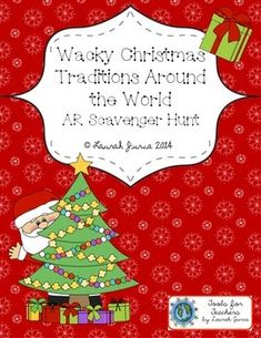 A fun, FREE, AR scavenger hunt for crazy Christmas traditions!