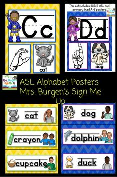 American Sign Language SUPERHERO A-Z Posters and Word Wall cards for your classroom. Just download print and laminate! Bright and colorful for your classroom! $