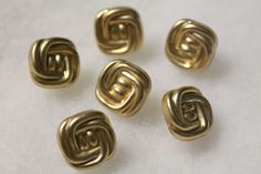 """Gold Shank Buttons, Plastic, 1/2"""", pack of 6"""