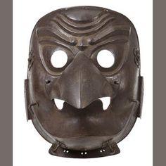 Bonhams 1793 : A fine Karura somen (full face mask) Edo period, late 18th century