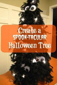 Create A Spook-tacular Halloween Tree  - love those big googly eyes!  http://www.hometalk.com/l/E7B