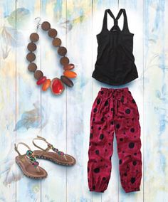 LB259 - Funky Beach Pants  - Funky Beach Pants, Women's Jeans, Trousers & Shorts, Womens Clothing, Clothing, Accessories, Joe Browns