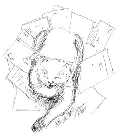The Creative Cat - Daily Sketch Reprise: Three Colored Cats, 2012
