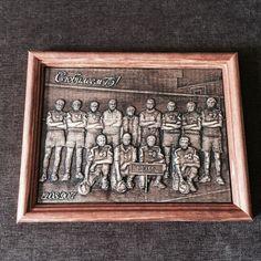 Резная картина из дерева — Команда