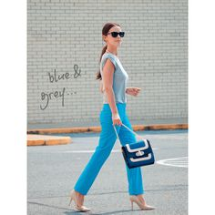 Look of the day blue grey