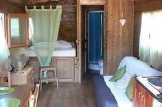 This gypsy caravan:   13 Truly Adorable Houses You Can Buy For Less Than A Year Of College