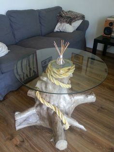 driftwood coffee table - love it!