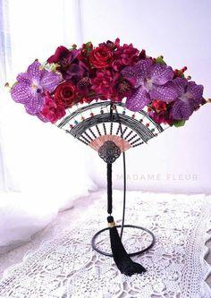 Herb Bouquet, Flower Boquet, Flower Art, Clay Flowers, Flowers In Hair, Diy Wedding Bouquet, Wedding Flowers, Japanese Floral Design, Asian Flowers