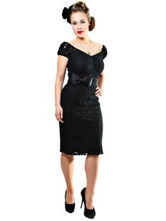 Collectif Delores Dress Lace Black