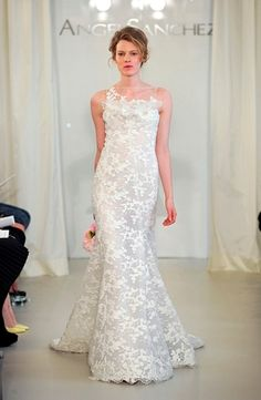 Angel Sanchez - Illusion Mermaid Gown in Lace