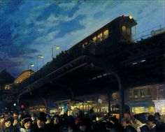 "fleurdulys: ""Six-o-Clock, Winter - John Sloan 1922 """