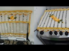 "Capa de fogão ""Esther"" 🍃🌸🍃 4 bocas de crochê fácil #semprecírculo #Elizabethsilva - YouTube Crochet Videos, Crochet Designs, Crochet Doilies, Diy And Crafts, Holiday Decor, Youtube, Home Decor, Kitchen Playsets, Crochet Dishcloths"