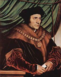 """Thomas More, 1478 — 1535 foi homem de estado, diplomata, escritor, advogado e homem de leis, ocupou vários cargos públicos, e em especial, de 1529 a 1532, o cargo de """"Lord Chancellor"""" (Chanceler do Reino - de Henrique VIII da Inglaterra. É geralmente considerado como um dos grandes humanistas do Renascimento. Sua principal obra literária é Utopia."""