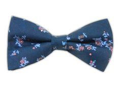 Linen Flowers - Serene Blue (Bow Ties) | Ties, Bow Ties, and Pocket Squares | The Tie Bar