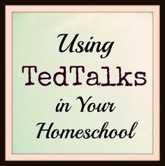 A new blog series at Adorable Chaos on using TedTalks, TedKids and Ted Teens in your homeschool.