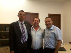 Meus amigos Vereador Jair Tatto, do PT de São Paulo e seu chefe de gabinete Everton Ferreira.