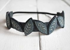 Adorable! Want...A Crown of Leaves Hand Embroidered Felt Headband by LoveMaude