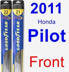 Front Wiper Blade Pack for 2011 Honda Pilot - Hybrid