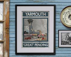 Great Yarmouth: 'Great' Pending - A3 Rubbish Seaside print (signed and dated) by RubbishSeaside on Etsy https://www.etsy.com/uk/listing/465693513/great-yarmouth-great-pending-a3-rubbish