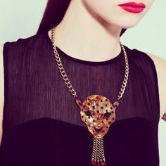 Tatty Devine - Big leopard necklace - £95 - AW 2012