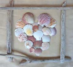 seashell driftwood art by joanne554 x 513 | 176.4KB | indulgy.com   looks easy to make  i love it for summer decor maybe in bathroom
