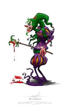 Alfonso Pardo - pardoart - #JOKER for @Sketch_Dailies #VILLAINWEEK on #sketch_dailies http://t.co/qZOOHzHCQB
