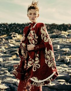 """Red Coats and Dresses"" by Damian Foxe for How to Spend It 2015"