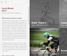 WorldRide 2013 by Liz Dimmock by Nemanja Ivanovic, via Behance - sidebar navigation, horizontal scroll with moving text area Moving Text, Desktop, Web Design, Behance, Digital, Gallery, Behavior, Website Designs, Site Design