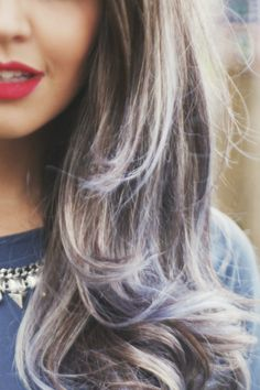 Débora Alcântara @Tudo Orna   #bluehair #ombreblue #ombrehairblue #cabeloazul #cabelocolorido #greybluecolor #grey #darkhairblueends #pretybluehair #haircolor #fabulous #beauty #bluehairwithshortbangs #franjacurta