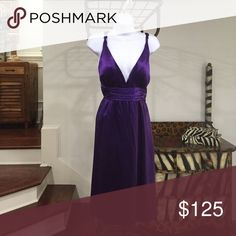 Calvin Klein Collection Purple Cocktail Dress, 12 Soft Flowing Purple Plunging Neckline Dress. Perfect For That Special Date Night! They won't forget you in this dress:) Calvin Klein Collection Dresses Midi