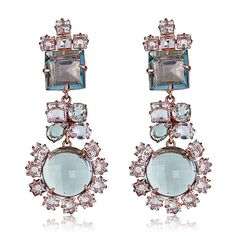 5303741e7 Shop the Bounkit Rose Gold Green Amethyst Convertible Earrings Collection  at HAUTEheadquarters Amethyst Quartz, Clear