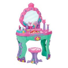 Amazon.com: Disney Princess Ariel Ocean Salon Vanity The Little Mermaid: Toys & Games