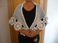 Crochet flower shawl