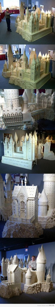 Saw this guy's work in Iowa back on Choir Tour in college super intricate! Matchstick Hogwarts