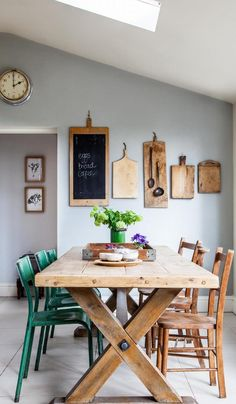 #ClippedOnIssuu from Heart Home Magazine September 2014 Dining Wall Decor, Dining Room Design, Dining Furniture, Dining Room Table, Dining Area, Kitchen Decor, Room Decor, Kitchen Ideas, Kitchen Small