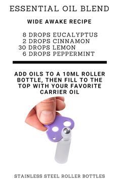 Defog Your Brain Bottle Blend / Recipe. Shop Here For All Your Essential Oil Accessories. Essential Oil Storage, Essential Oil Blends, Essential Oils, Essential Oil Beginner, Oils For Energy, Roller Bottle Recipes, Essential Oil Perfume, Look Here, Carrier Oils