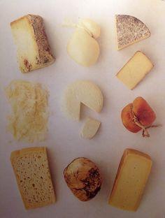 Aglio, Olio e Peperoncino: Grilled polenta with 4 formaggi cheese fondue