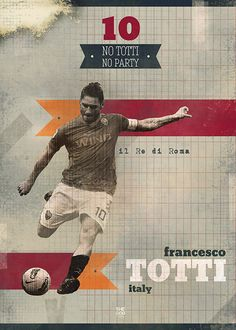 Totti  The Gods Of Football (Part I) on Behance