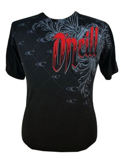 Oneill Mens Graphic Tshirt Large S L XL Short Sleeve Tee Crew Neck Black Red NEW #ONeill #GraphicTee