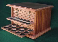 Mahogany Coin Cabinet