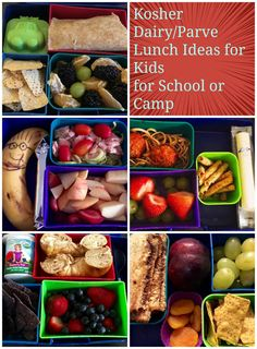 Dairy/Parve Lunch Ideas for Kosher Schools or Camps #Dairy #kosher #kosherdairy | The Mama Maven Blog @themamamaven