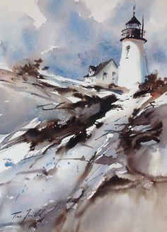 #Lighthouse painting - Kristina Jurick    http://www.roanokemyhomesweethome.com