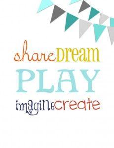 {FREE} Playroom Printables
