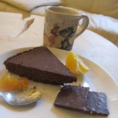 Torta Senza Glutine Senza Zucchero al Cioccolato con Ceci